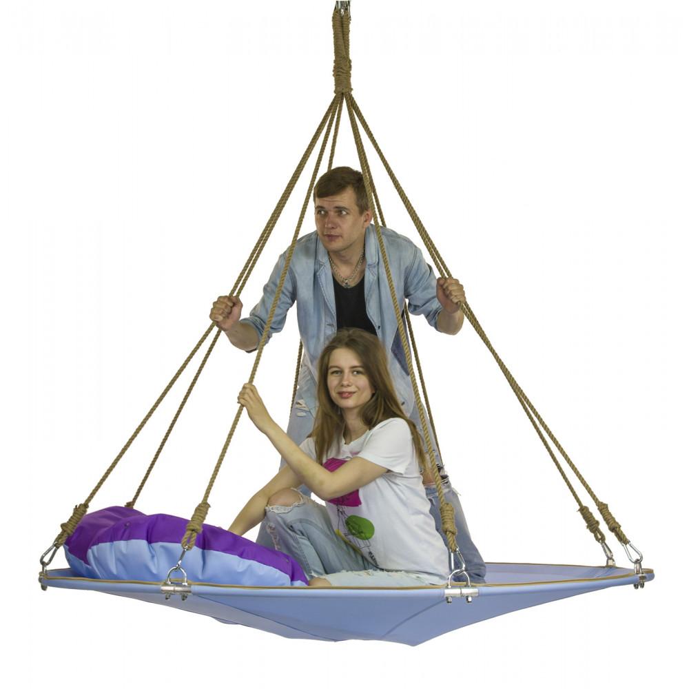 Подвесной гамак-кровать Аквамарин