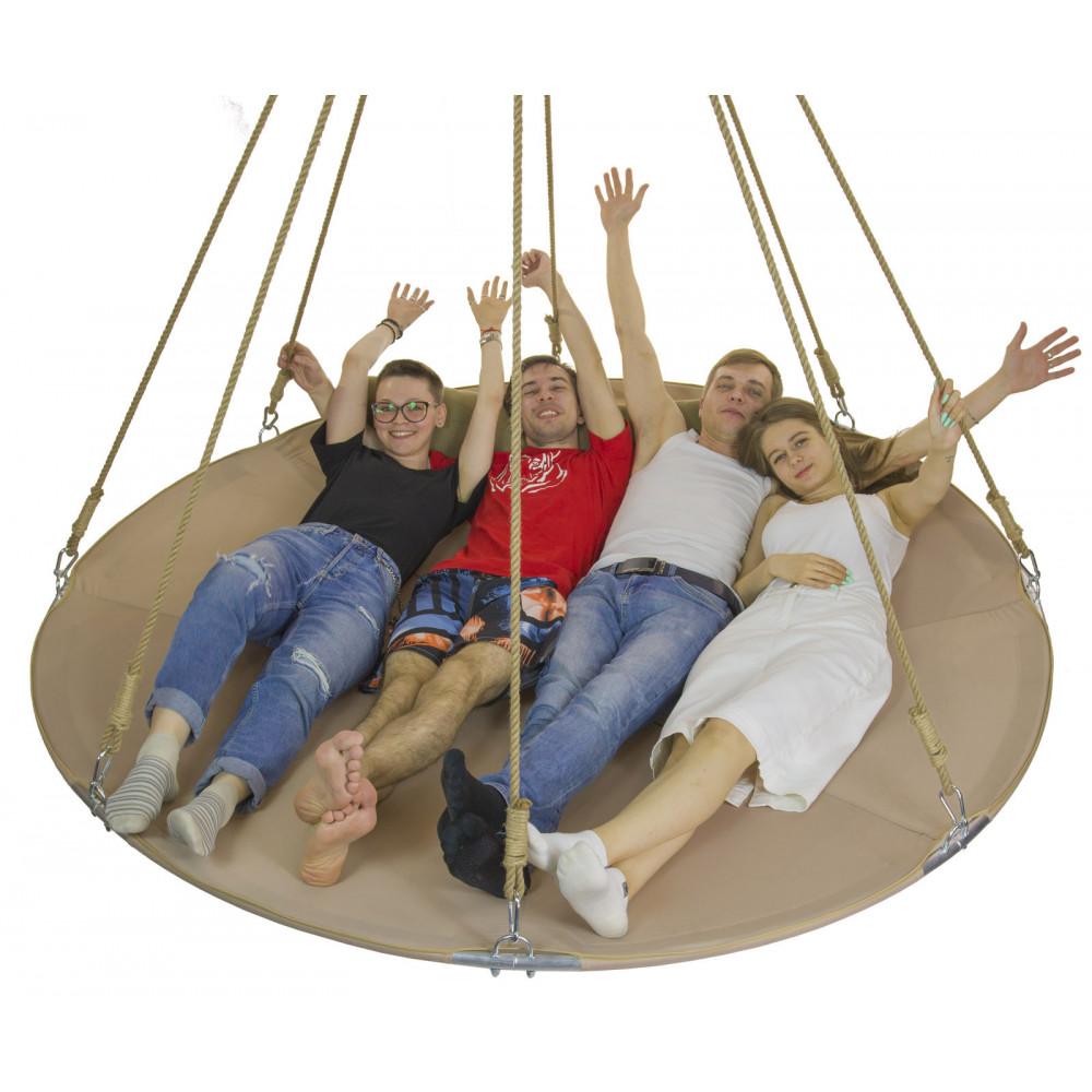 Подвесной гамак-кровать Натуральный беж